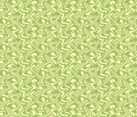 zigzag wave in Green Tea fabric by weavingmajor on Spoonflower - custom fabric