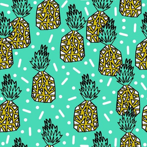 pineapple // pineapples summer sweet tropical bright kids