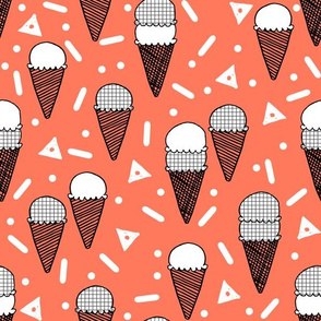 ice cream cone // ice creams ice cream memphis rad kids bright summer sweet edgy  kids summer print