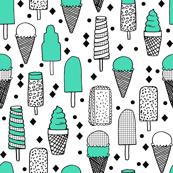 ice cream // ice cream cones tropical summer ice cream sweets bright memphis kids