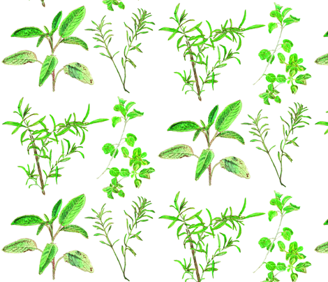 herb_design_10_in_x_12_flatten_2 fabric by botanica on Spoonflower - custom fabric