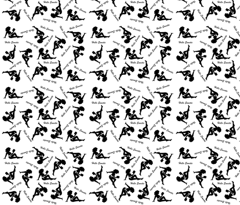 River Song Mud Flap Girl  fabric by atomicmomma on Spoonflower - custom fabric