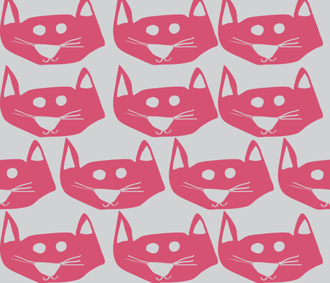 Billie's Kitty Cat fabric by megancarroll on Spoonflower - custom fabric