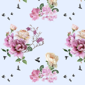 FLoral and birds