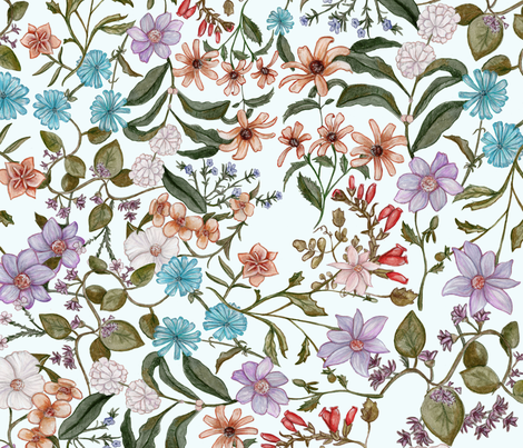 Spring Floral  fabric by chesleyjean on Spoonflower - custom fabric