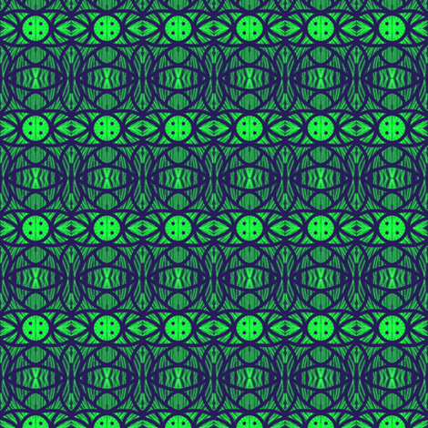 Galaxy Gateways Green fabric by eve_catt_art on Spoonflower - custom fabric