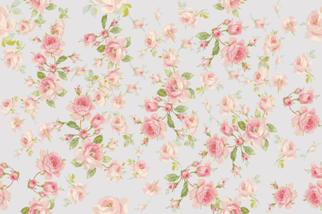 Saint Colette June Roses on taupe fabric by lilyoake on Spoonflower - custom fabric