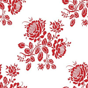 Kristianstad Rose in cranberry red