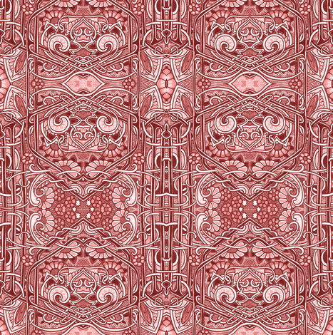 A Hundred Shades of Red fabric by edsel2084 on Spoonflower - custom fabric