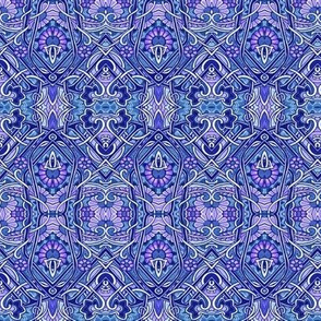 Interwoven Blues (and purples)