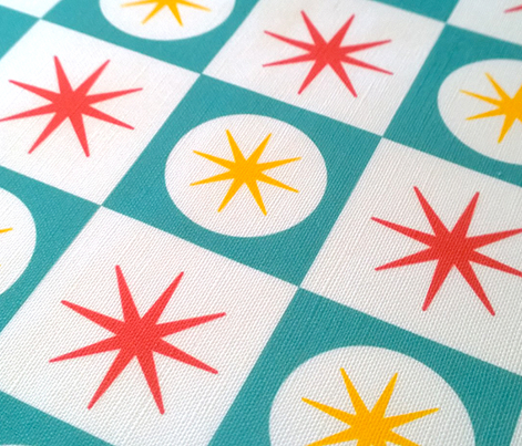 Atomic Blue Tea Towel