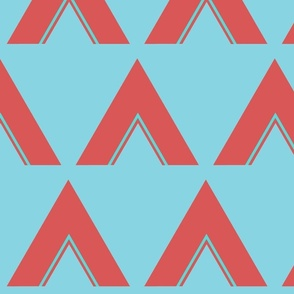 Teepee in coral and teal LG print