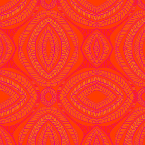 Orange Leaves Pattern 4