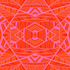 More Orange Than Pink Geo Pattern 2.0