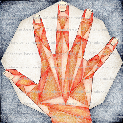 Geometric Hand by Moonlight