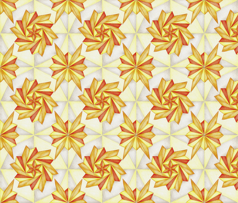 Orange Pinwheel Firecracker Abstract New Year Celebration fabric by crafty_bug_lady on Spoonflower - custom fabric