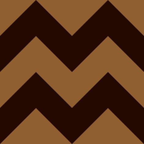 Chevron Toffee fabric by ballantine on Spoonflower - custom fabric