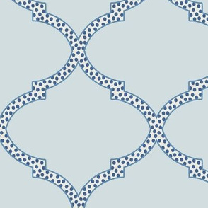 Valencia Trellis in Blue-Gray and Navy