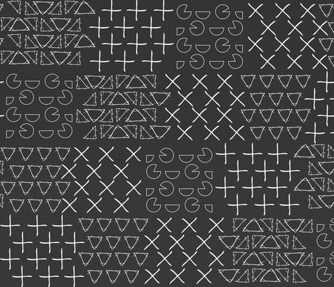Chalkboard Patchwork Math fabric by mrshervi on Spoonflower - custom fabric