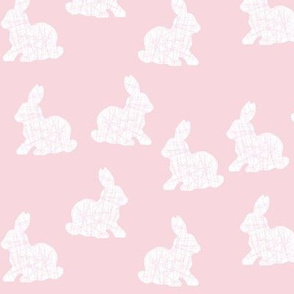 white bunnies on pink