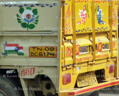 Back side of delivery truck, Chennai