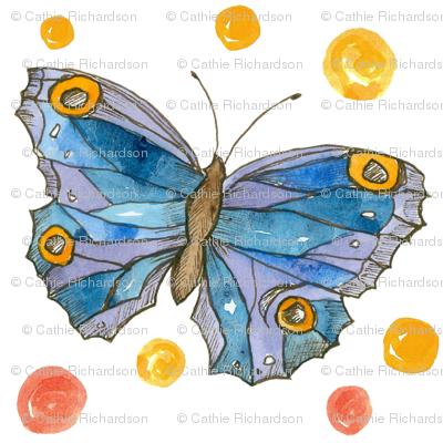 Royal Blue Butterflies