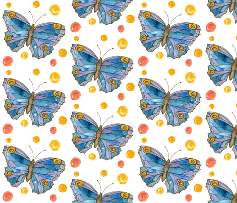 Royal Blue Butterflies fabric by countrygarden on Spoonflower - custom fabric
