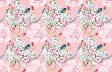 Shabby_chic_rose_bouquet_with_ribbons_on_pink_revised_shop_preview