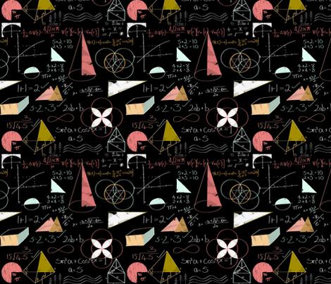 New_Maths. fabric by art_on_fabric on Spoonflower - custom fabric