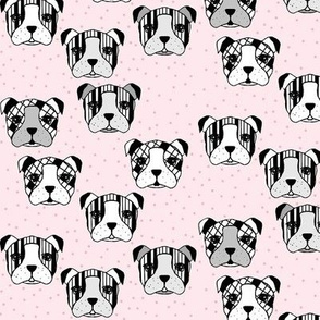 dogs and dots pink