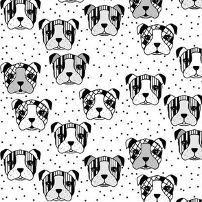 dogs and dots white