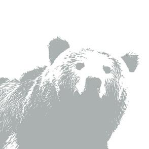 Grey Bear // Pillow Cover