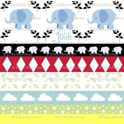 Blue Elephant YaYa diamond quilt-Name