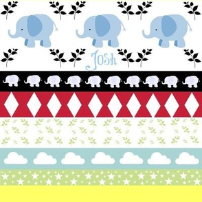 Blue Elephant YaYa diamond quilt-Name