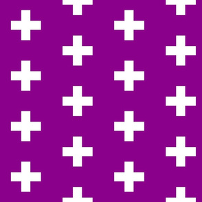 Deep Magenta Crosses - Purple Plus Signs