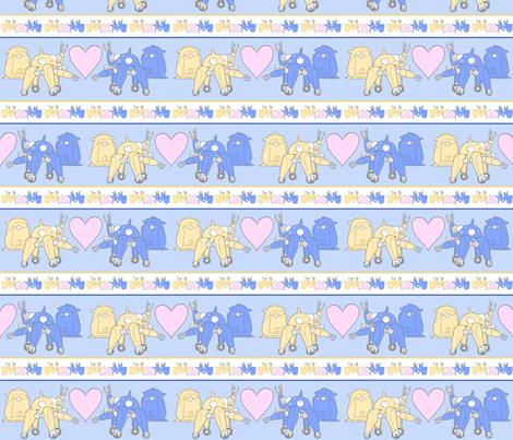 Tachikoma_pale_blue fabric by ineffectivecarnivore on Spoonflower - custom fabric