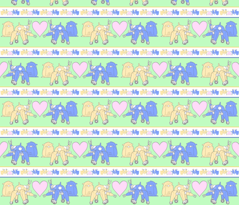 Tachikoma_pale_green fabric by ineffectivecarnivore on Spoonflower - custom fabric