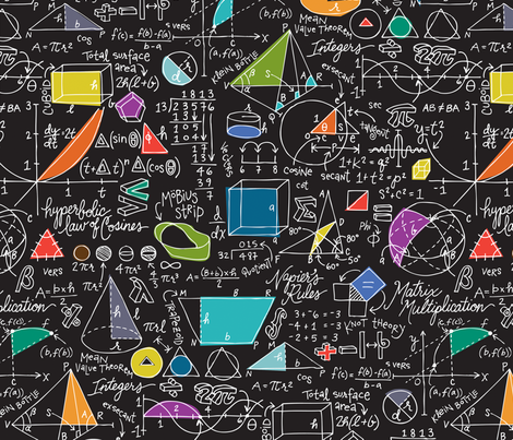 Math Count On It Fabric Sammyk Spoonflower