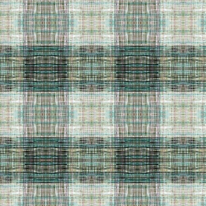 Tweedy faux plaid green