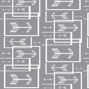Geometric Grey Arrows