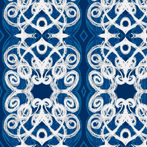 Damask- blue grey