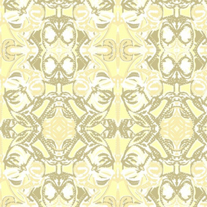 Damask neutral light yellow