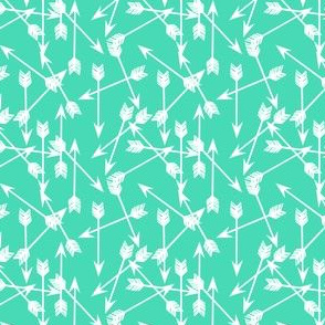 arrows scattered // bright tropical green southwest arrows print