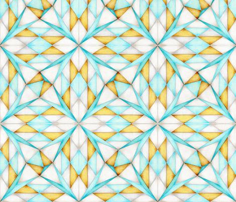Shards of Sheer Aqua fabric by crafty_bug_lady on Spoonflower - custom fabric