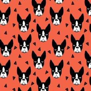 boston terriers // coral dog breed fabric boston terrier cute dog dogs