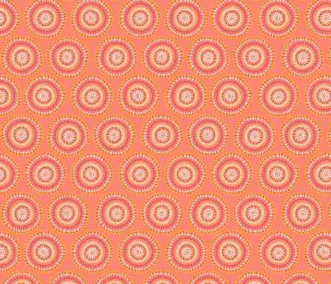 medallion_coral fabric by kristinnohe on Spoonflower - custom fabric