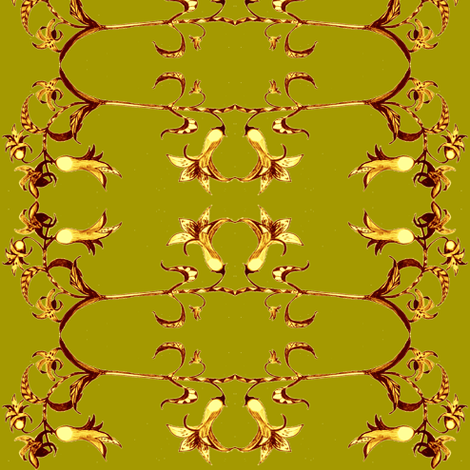 Reba's Trumpet Flower fabric by kumate on Spoonflower - custom fabric
