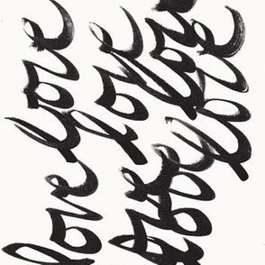Love in Cursive, Ink, Starkly Black & White -ch