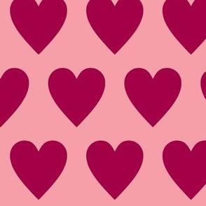 Hearts -pink-rose- burgundy
