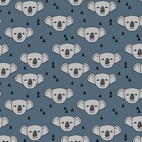 koala // blue grey koala fabric cute kids australian fabric